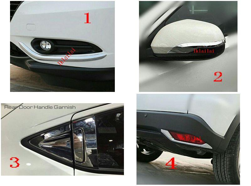 Honda HRV '14-15 Chrome Garnish Series [Bottom Bumper+Mirror+Rear Door