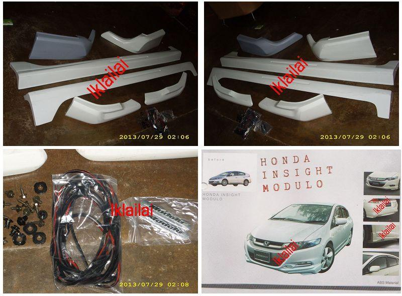 Honda INSIGHT '11-12 Modulo Style Full Set Body Kit ABS Material