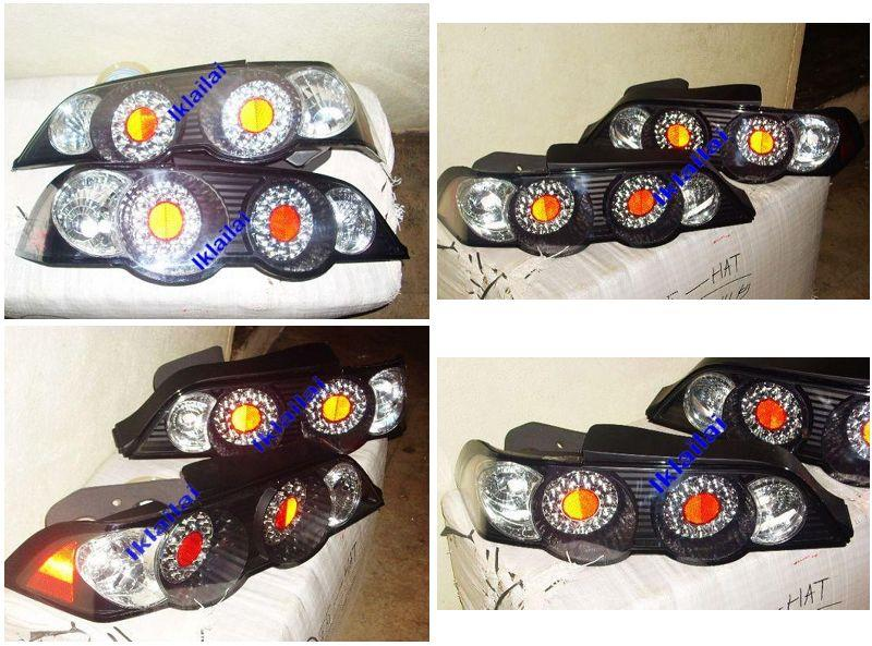 Honda Integra DC5 '02 Tail Lamp Crystal LED Black