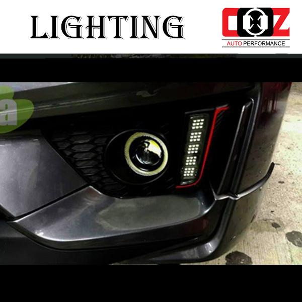 HONDA JAZZ 2014 - 2015 Fog Lamp Cover With LED Daylight DRL + Auto On