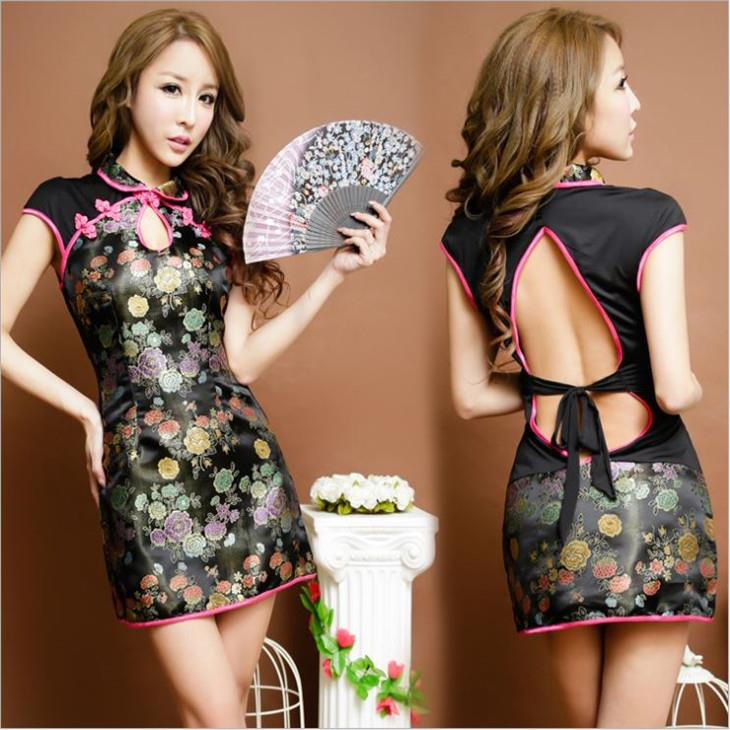 Hot~Backless Sexy Cheongsam