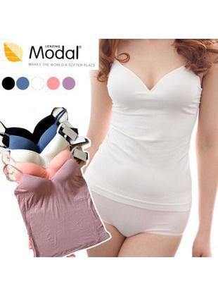 Hot~Modal No Rims Bra Singlet in 1pcs
