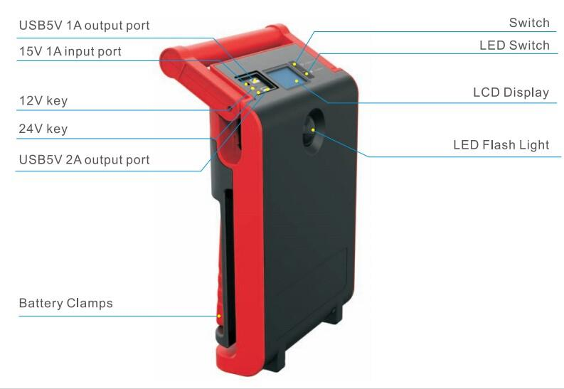 Hot new products for 2017 Epower-60 12V/24V car jump starter