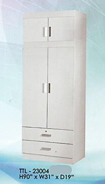 HOT SALE 2DOOR WARDROBE WITH DRAWER AND TOP MODEL - 23003 / 23004