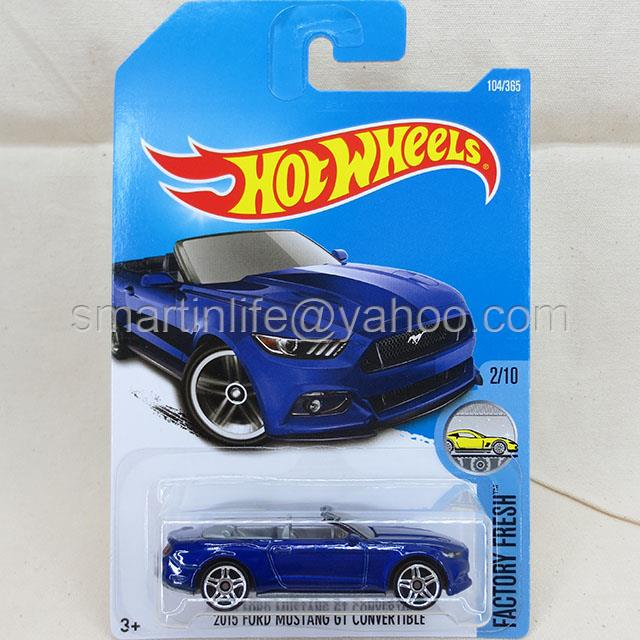 Hot Wheels 2015 Ford Mustang GT Convertible (Blue) #2