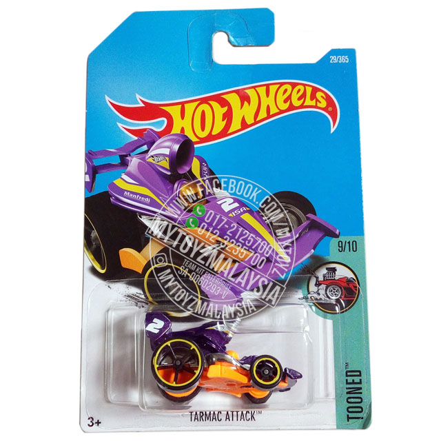 Hot Wheels 2017 Tooned Tarmac Attack [Purple]