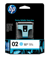 HP 02 Lt Cyan Ink (Genuine) C8774WA PhotoSmart 5180 6180 7180
