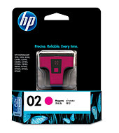HP 02 Magenta Ink (Genuine) C8772WA PhotoSmart 5180 6180 7180