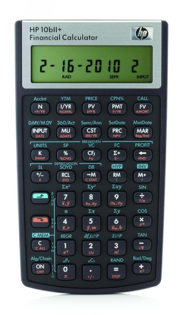 HP 10bII+, Financial Calculator (Free Guide Book)[Latest Model]