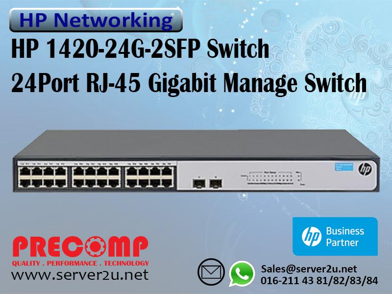 HP 1420-24G-2SFP Switch (JH017A)