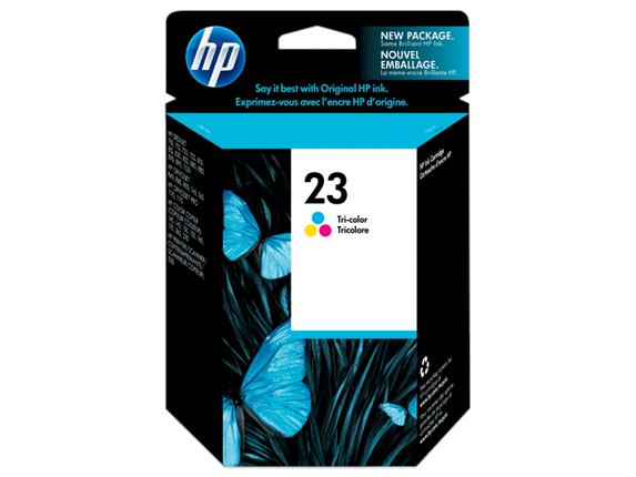 HP 23 Tri-color Original Ink Cartridge(C1823D)