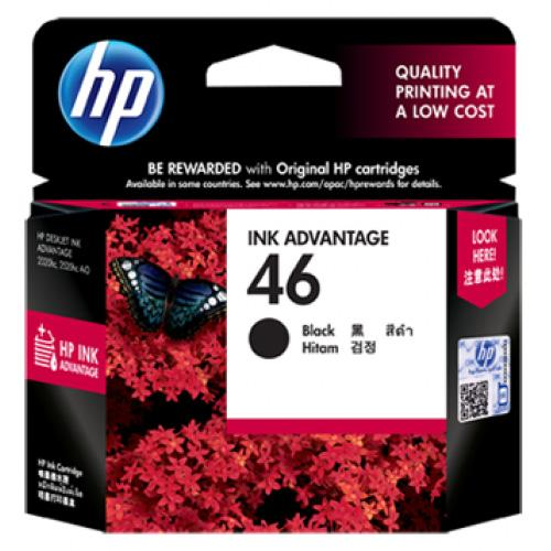HP 46 BLACK INK CARTRIDGE, CZ637AA