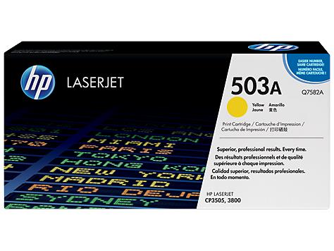 HP 503A Yellow Original LaserJet Toner Cartridge (Q7582A)