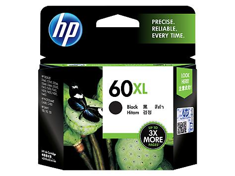 HP 60XL High Yield Black Original Ink Cartridge(CC641WA)
