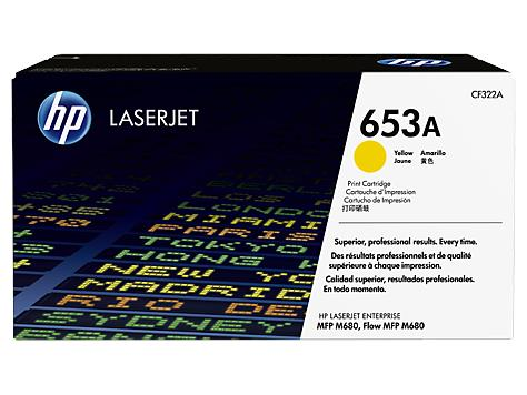 HP 653A Yellow Original LaserJet Toner Cartridge (CF322A)