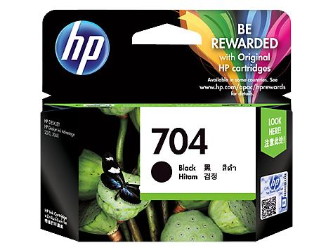 HP® 704 Black Original Ink Advantage Cartridge(CN692AA)