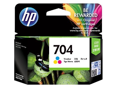 HP 704 Tri-color Original Ink Advantage Cartridge(CN693AA)