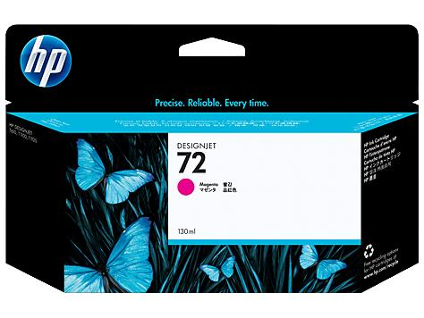 HP 72 130-ml Magenta DesignJet Ink Cartridge(C9372A)