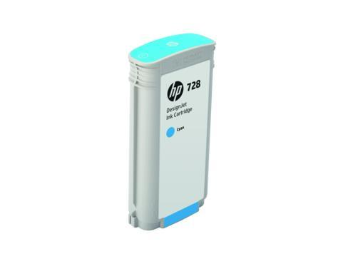 HP 728 130-ml Cyan DesignJet Ink Cartridge(F9J67A)