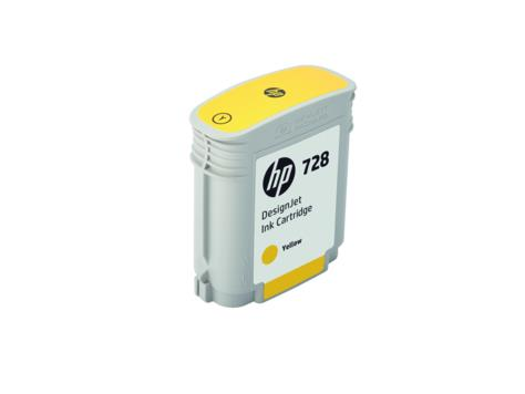 HP 728 40-ml Yellow DesignJet Ink Cartridge(F9J61A)