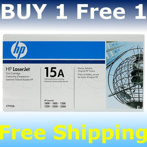 HP Cartridge C7115A Laser Jet Printer Black c7115a BUY1 Free1 original