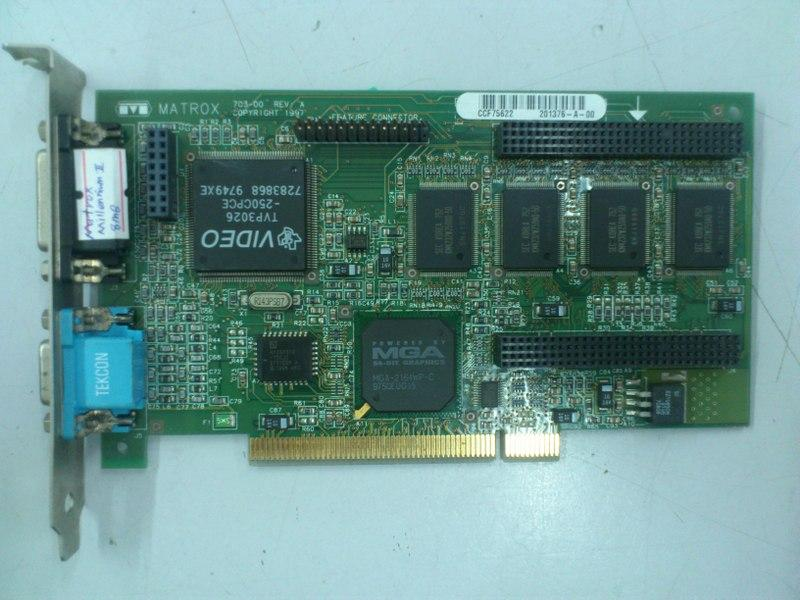 HP MAXTROX Millennium MIL2P/8/HP 8MB PCI Graphic Card 200515