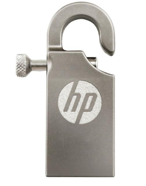 HP USB 2.0 STAINLESS STEEL CARABINER HOOK THUMB DRIVE V251W 8GB