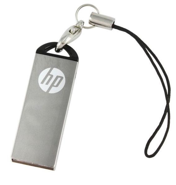 HP USB2.0 STAINLESS STEEL THUMB DRIVE V220W 16GB