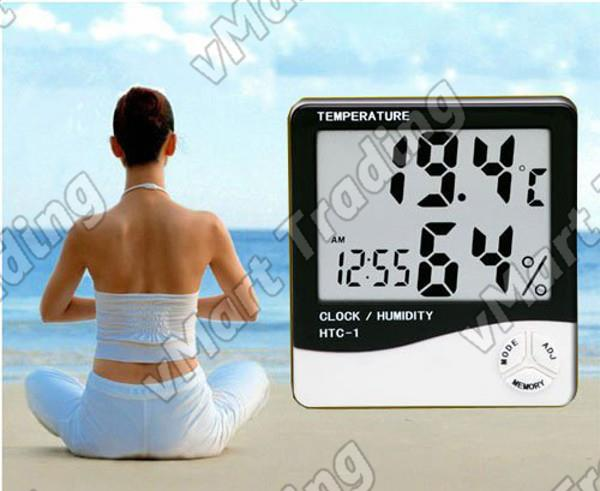HTC-1 Digital Humidity Hygrometer Thermometer Clock