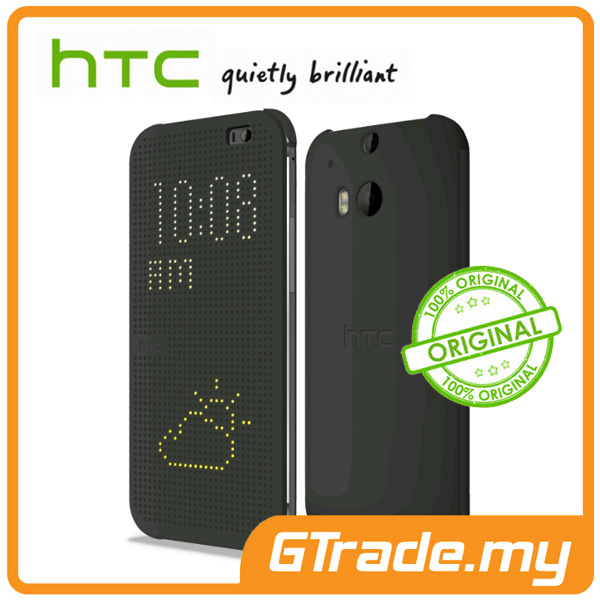HTC Dot View Cover Case HC M1001 | One M8 - Black