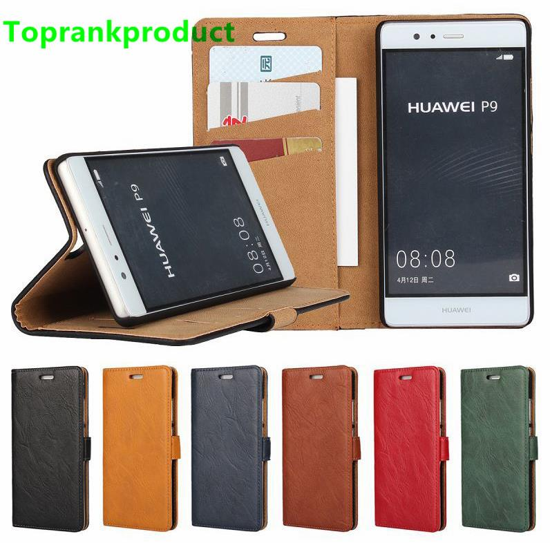 Huawei Ascend P9 / Lite Flip Card Slot Leather Case Cover Casing +Gift