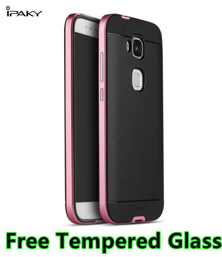 Huawei G8 Neo Hybrid Back Case Cover Casing + Free Tempered Glass