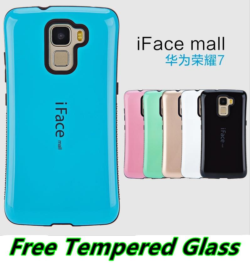Huawei Honor 7 ShakeProof Back Case Cover Casing +Tempered Glass