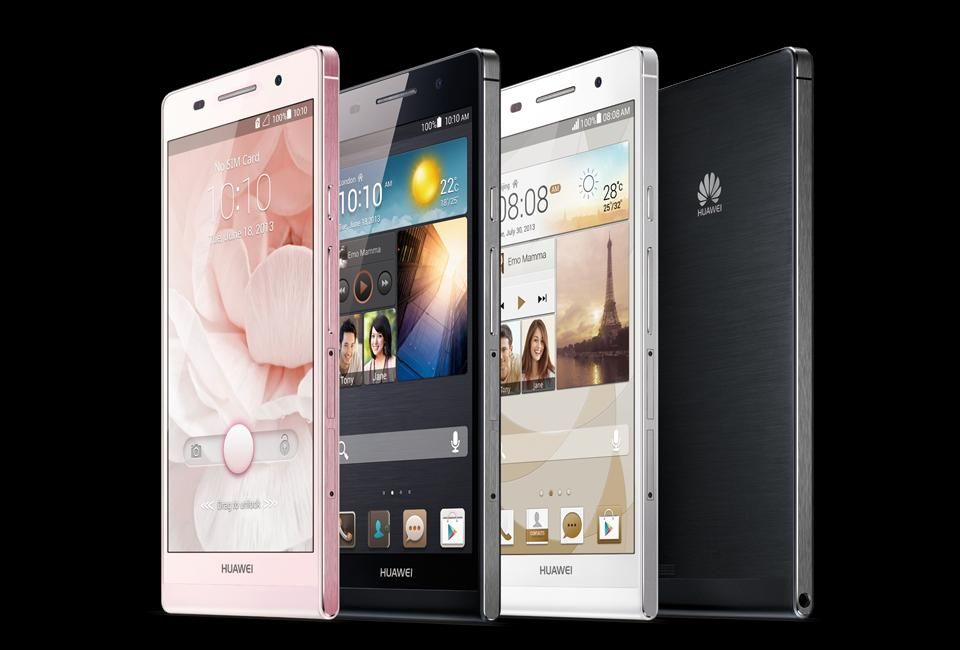 huawei p6 4.7 inches android phone / pink / white / black