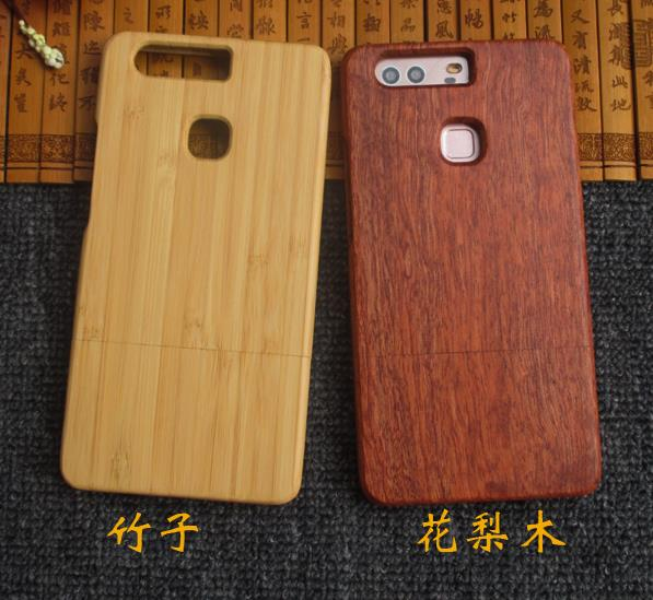 Huawei P9 Plus P9+ P9 Wood Bamboo Back Casing Cover Case