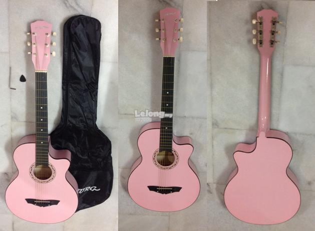 HYBURG Acoustic Guitar 38 Inch (Pink)