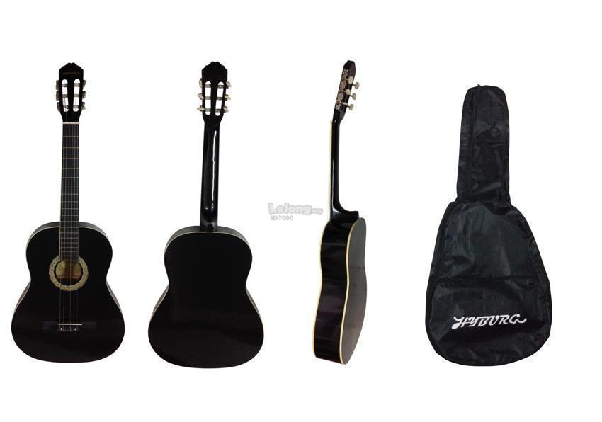 HYBURG Classical Guitar 39 Inch (Black) + Guitar Bag