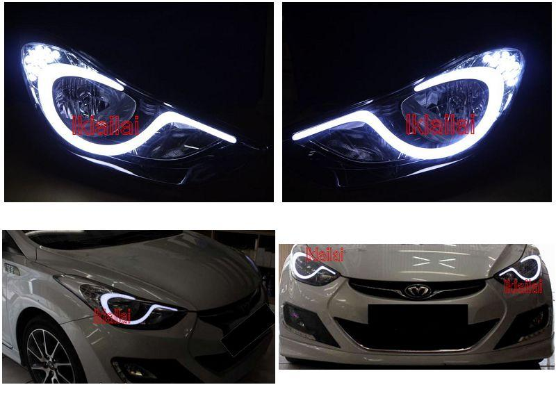 Hyundai Elantra '12 Add-on DRL to Original Head Lamp Use [Korea Made]