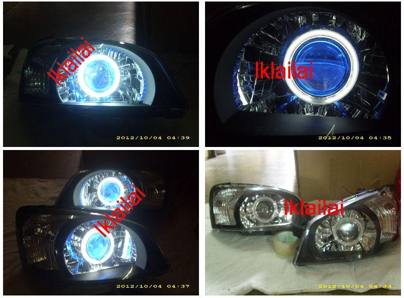 Hyundai GETZ '04-06 Twin CCFL Projector Head Lamp Blue [Angel Eyes] Bl