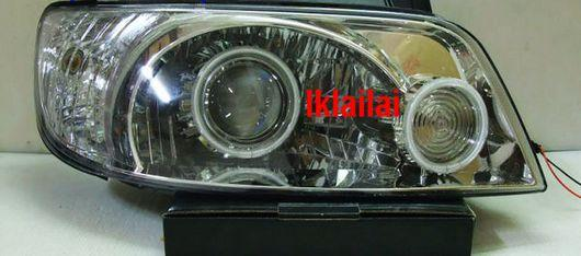 Hyundai Matrix Projector 2-CCFL Head Lamp [Chrome/Black Housing]