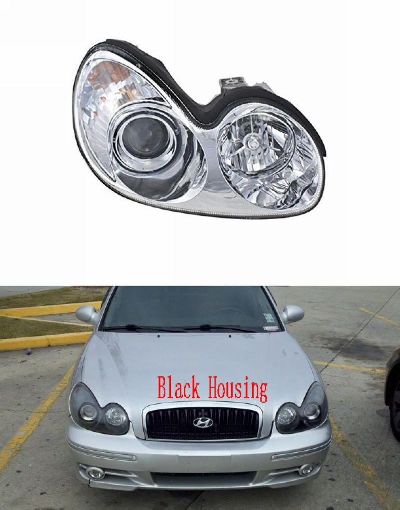 Hyundai Sonata 2005 Projector Head Lamp [Chrome / Black Housing]