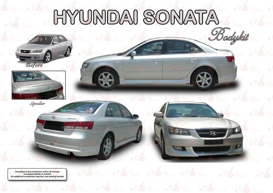 HYUNDAI SONOTA 2007 BODY KIT WITH PAINTING
