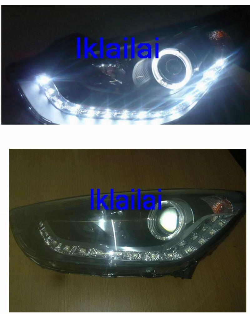 Hyundai Tucson IX35 '10-12 Projector Head Lamp [DRL+LED Ring Black]