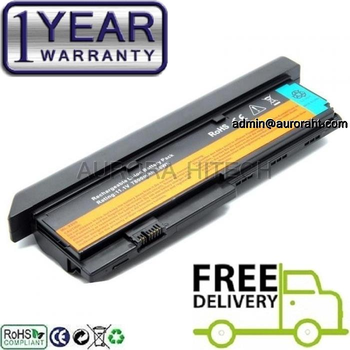 IBM ThinkPad X200 X200S X201 X201i FRU 42T4536 42T4538 7800mAh Battery