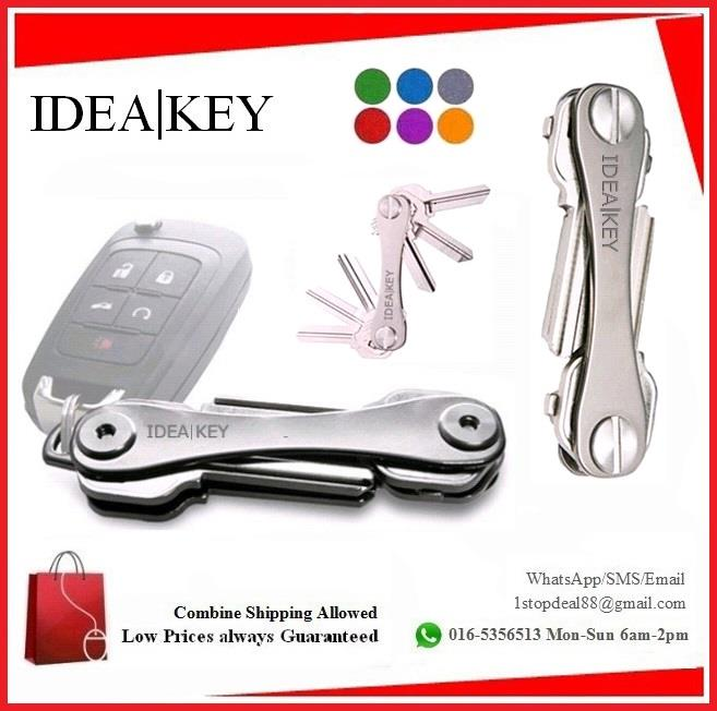 IDEAKEY  Aluminum Pocket Portable Compact Key Holder Keeper
