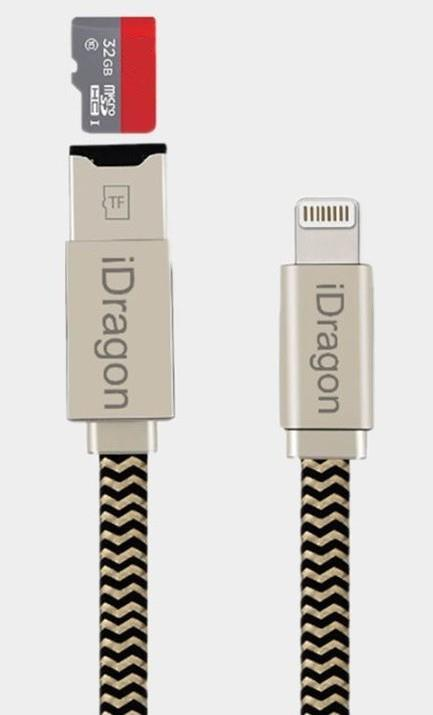 IDRAGON Iphone TF Card Reader Lightning Cable Pendrive