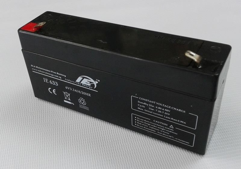 IE 6V 3.3AH Sealed Lead Acid Batteries