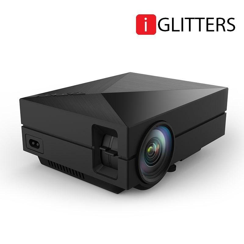 iGLITTERS GM60+ 1000 Ansi Lumens Keystone LED Mini Projector