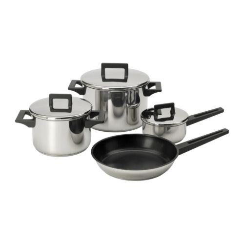 IKEA - 7 Pieces Stainless Steel Cookware Set