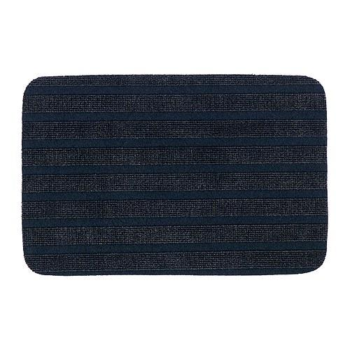 IKEA Borris Door Mat (Dark Blue, 38x57cm, PP, Genuine) Alas kaki